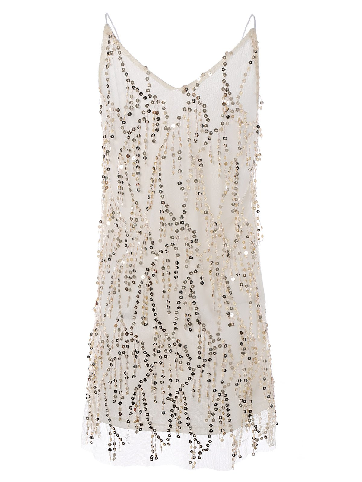 Cami Sequins A Line Tassels Club Dress