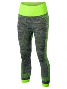 Sport Capri Running Leggings - Green L