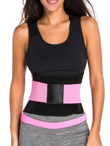 Hook And Loop Waist Trainer Corset - Pink M