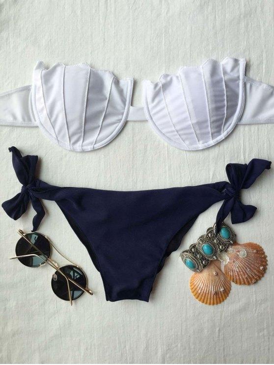 unique Strapless Padded Bikini Set - WHITE M