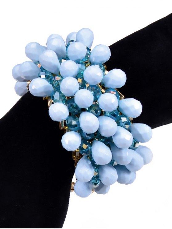 Faux Crystal Beaded Water Drop Bracelet -   Mobile