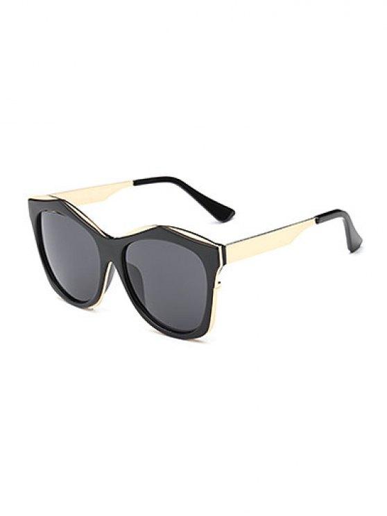 Llantas dobles irregulares gafas de sol - Negro