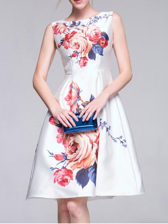 shops A-Line Midi Dress - WHITE S