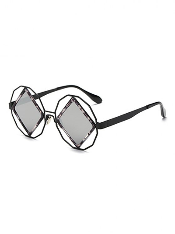 Gafas de sol espejadas rombo irregulares - Plata