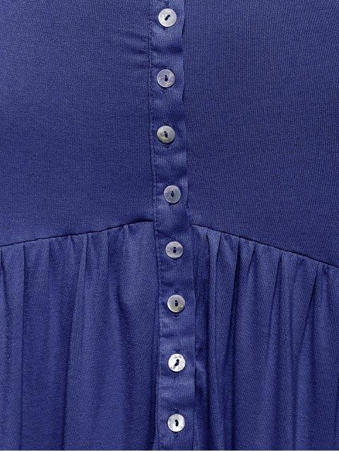 best Ruffles High Low Cami Dress - BLUE XL Mobile
