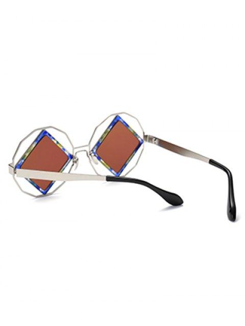latest Rhombus Mirrored Irregular Sunglasses - LIGHT BLUE  Mobile