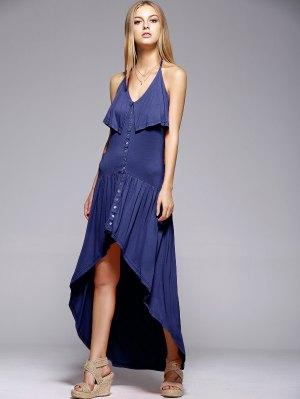 Ruffles High Low Cami Dress - Blue