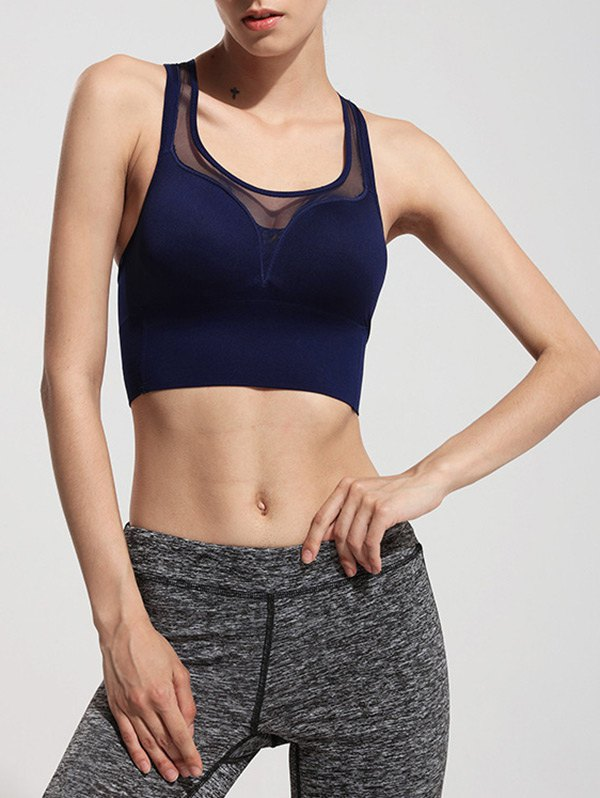 Racerback See Through Sports Bra