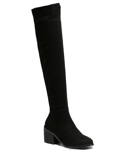 Chunky Heel Thigh Boots
