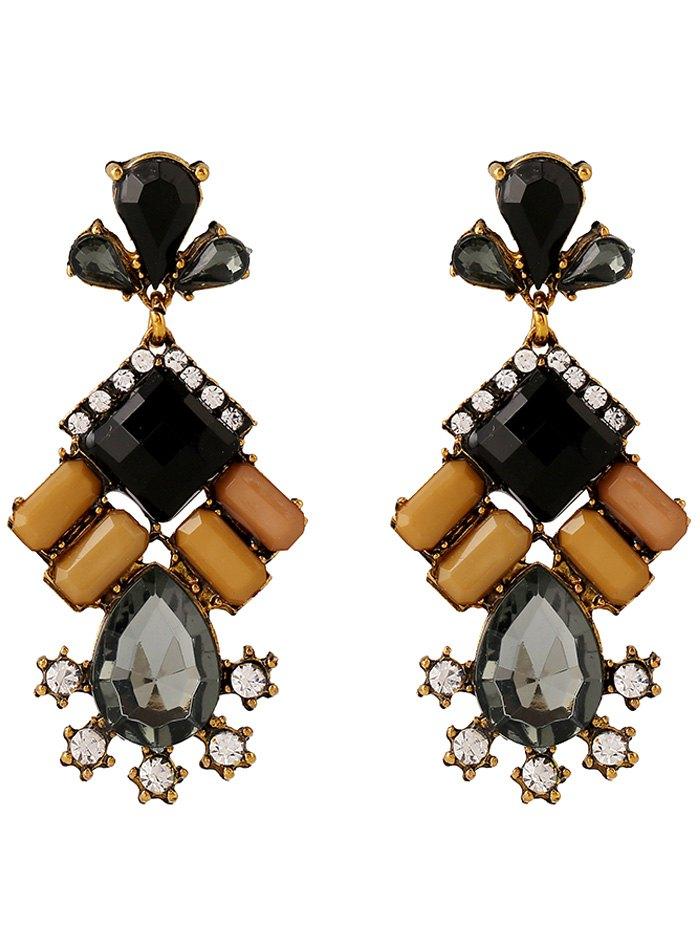 Faux Crystal Rhinestone Water Drop Earrings