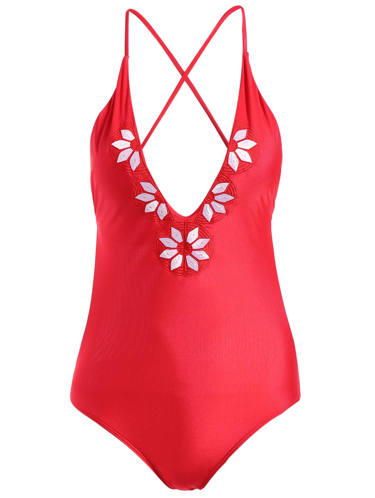 Cami Embroidery One-Piece Swimwear