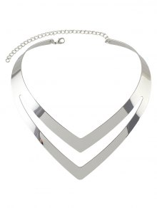 Hollow Out V Shape Necklace