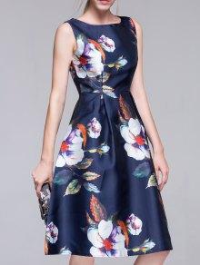 Vestido Acampanado De La Vendimia - Azul Purpúreo