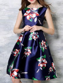 Sleeveless Printed Midi Dress