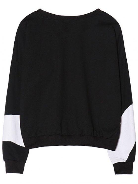Gesture 3D Print Funny Sweatshirt - BLACK ONE SIZE Mobile