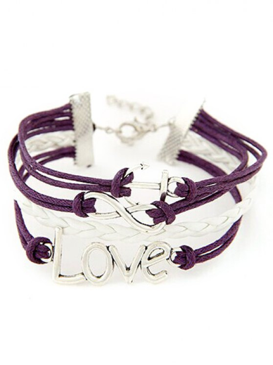 Anchor Layered Bracelet -   Mobile