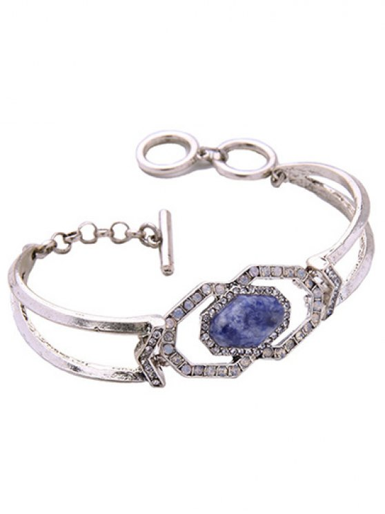 Faux Gemstone Geometric Bracelet -   Mobile