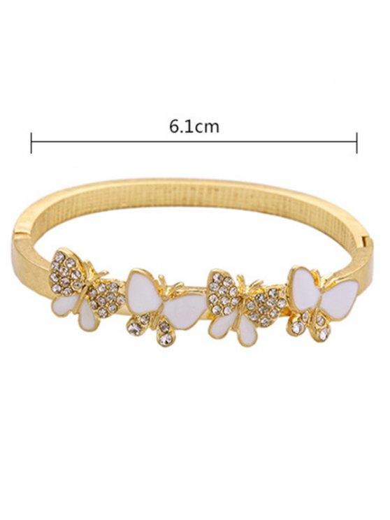 Rhinestone Butterfly Bracelet -   Mobile
