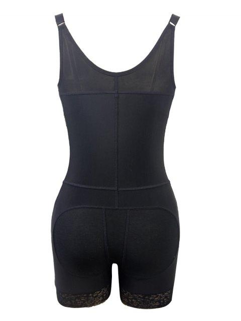 women Straps Back Backless Zip Up Full Body Corset - BLACK M Mobile