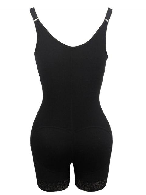 women's Straps Backless Zip Up Full Body Corset - BLACK 6XL Mobile