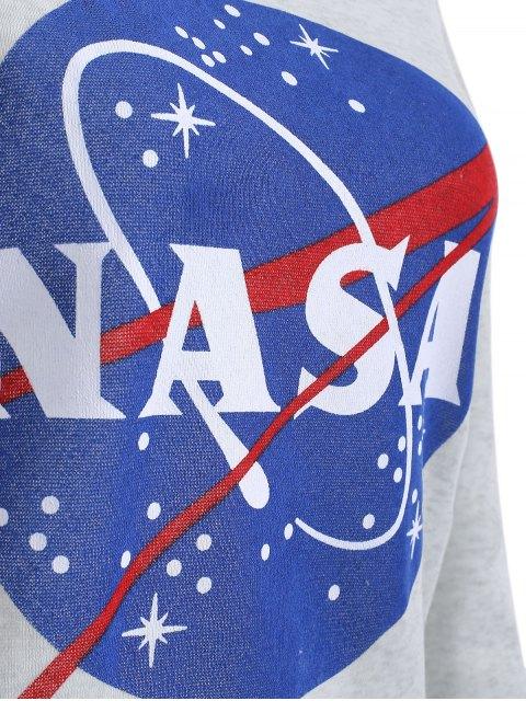 affordable Round Neck Galaxy Print Sweatshirt - LIGHT GRAY L Mobile