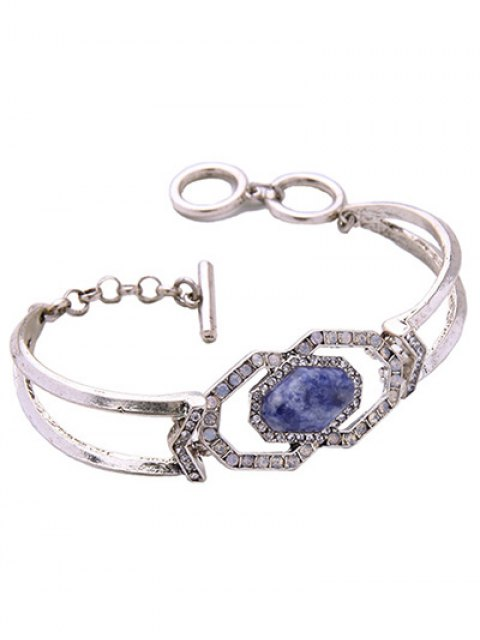 new Faux Gemstone Geometric Bracelet -   Mobile