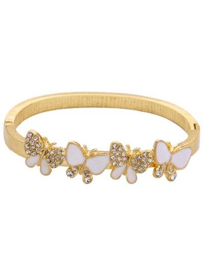 Rhinestone Butterfly Bracelet - GOLDEN  Mobile