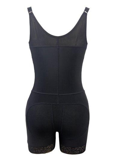 Straps Back Backless Zip Up Full Body Corset - BLACK 6XL Mobile