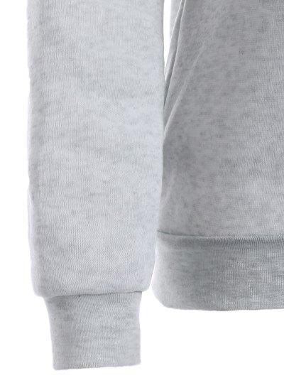 Round Neck Galaxy Print Sweatshirt - LIGHT GRAY S Mobile