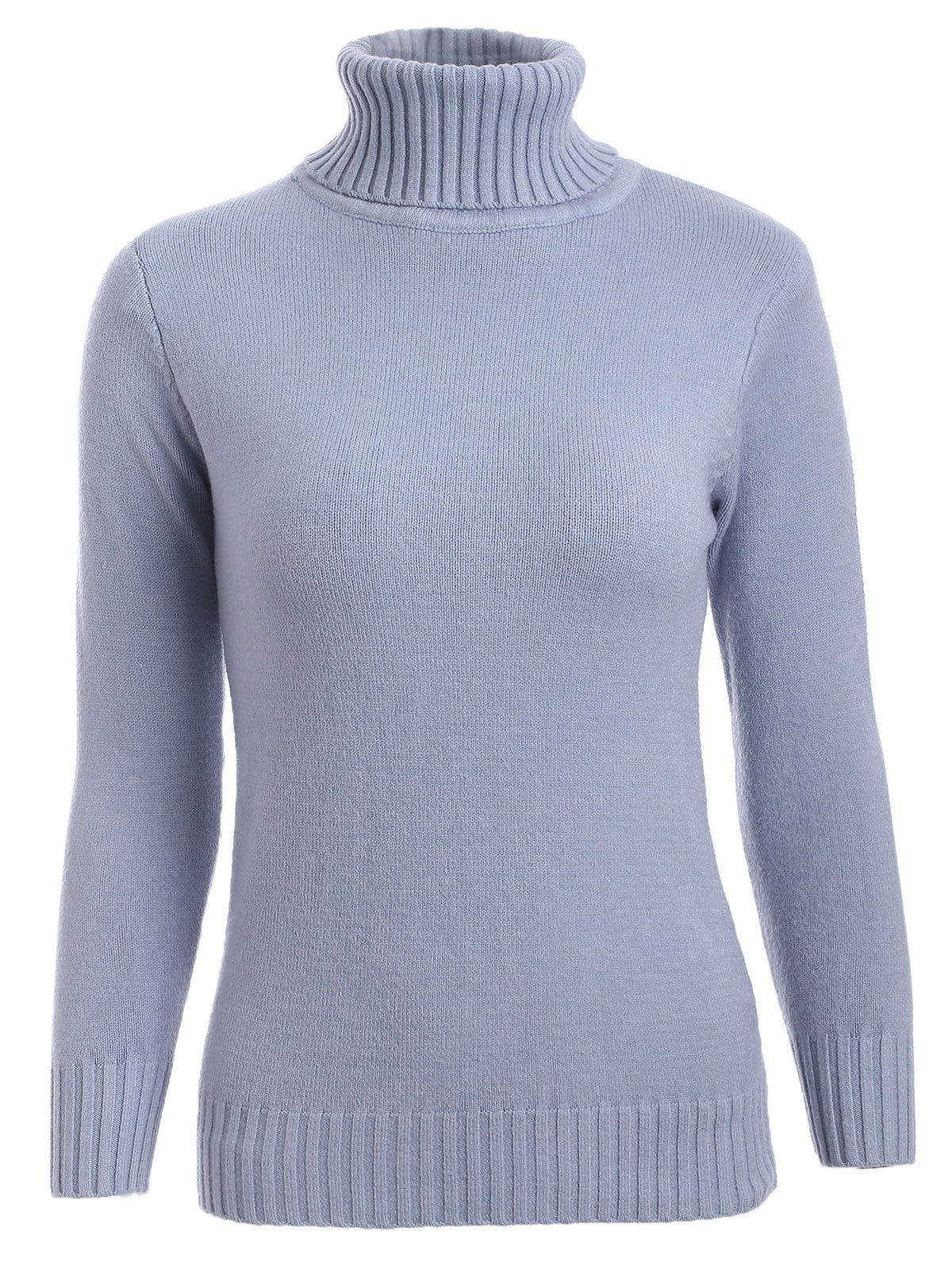Turtleneck SweaterClothes<br><br><br>Size: ONE SIZE<br>Color: GRAY