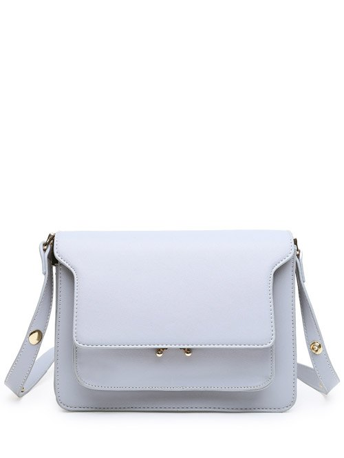 Metal Snap Crossbody Bag