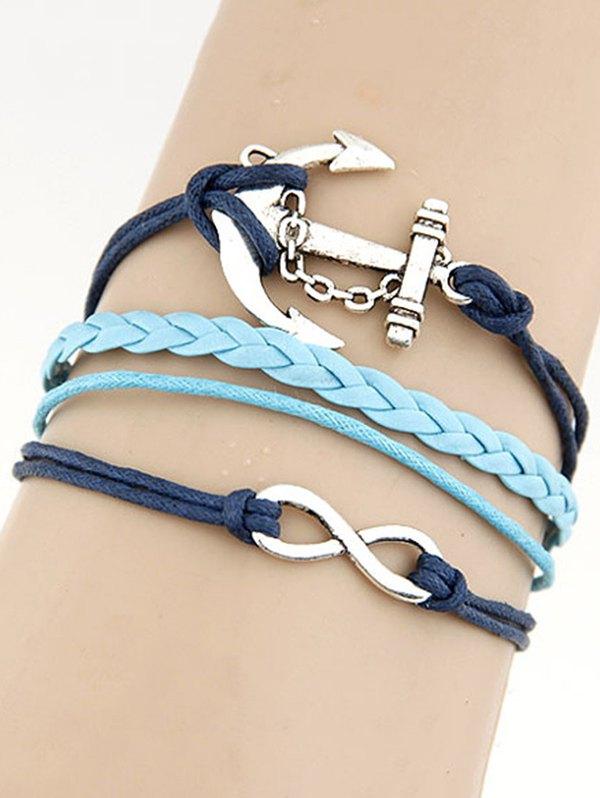 Anchor Braid BraceletAccessories<br><br><br>Color: BLUE