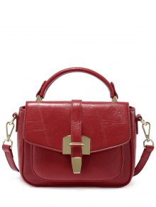 Buy Stitching PU Leather Metal Totes - RED