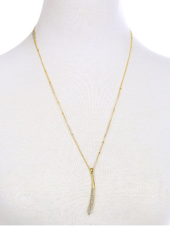 Collier strass Bar - Or