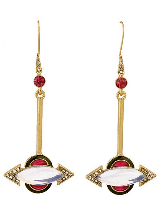 Rhinestone Arrow Earrings - GOLDEN  Mobile