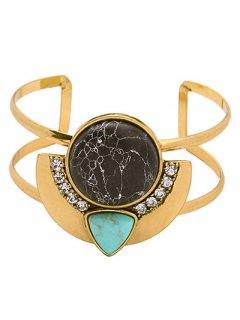 Faux Gemstone Cuff Bracelet