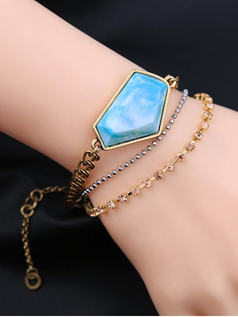 outfit Faux Gemstone Layered Bracelet - COLORMIX  Mobile