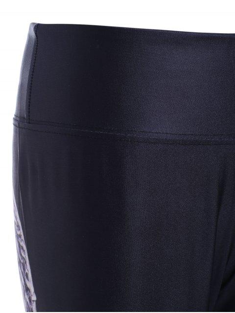 fashion Wing Pattern High Waist Skinny Pants - BLACK ONE SIZE Mobile