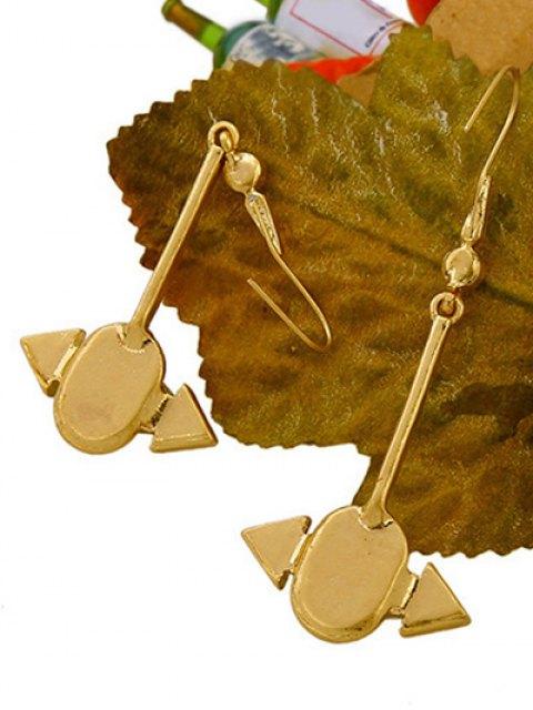 unique Rhinestone Arrow Earrings - GOLDEN  Mobile