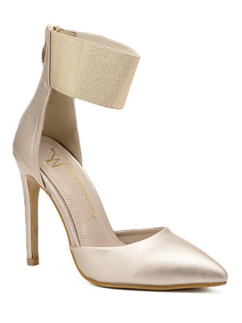 hot Elastic Band Stiletto Heel Pumps - GOLDEN 38 Mobile