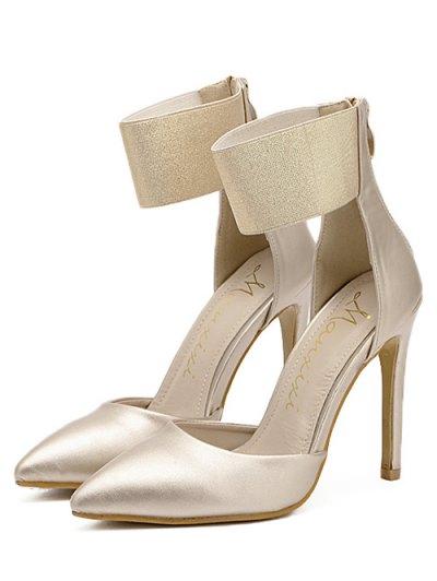Elastic Band Stiletto Heel Pumps - GOLDEN 38 Mobile