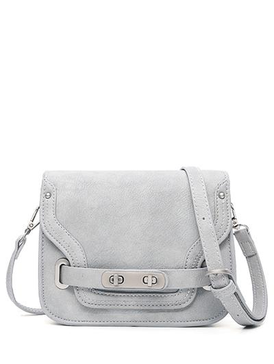 Double Hasp Crossbody Bag