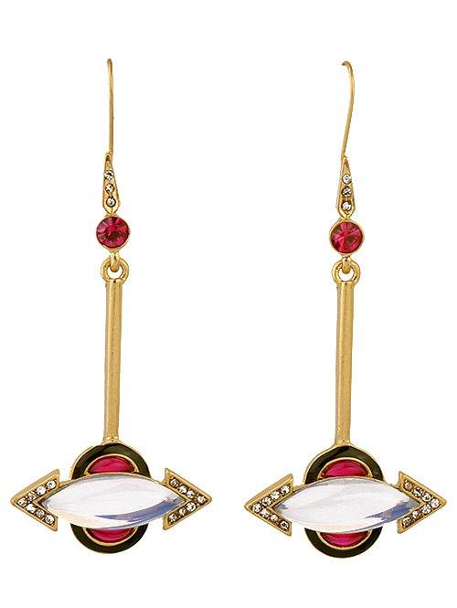 Rhinestone Arrow EarringsAccessories<br><br><br>Color: GOLDEN