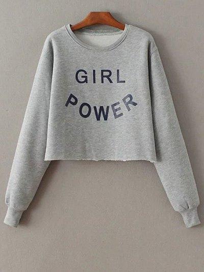 Round Neck Letter Pattern Sweatshirt