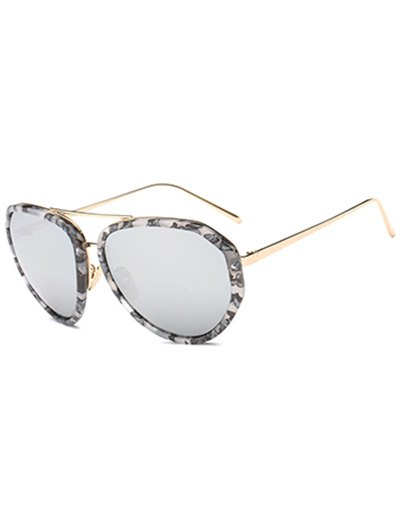Image of Oversized Marble Mirrored Sunglasses