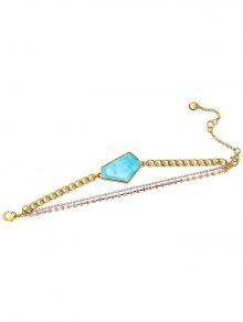 Faux Gemstone Layered Bracelet