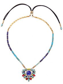Buy Artificial Gem Flower Necklace -