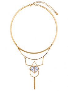Buy Artificial Stone Geometric Necklace - GOLDEN