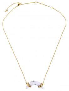 Buy Artificial Stone Crescent Necklace - GOLDEN