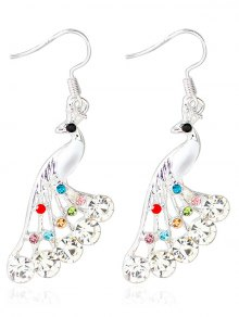 Rhinestone Peacock Drop Wedding Earrings Jewelry